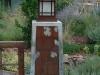 Gate Pillar with Light