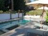 Connecticut bluestone frames swimming pool
